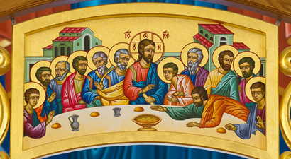 Photo of  Byzantine icon 'The Mystical Supper'